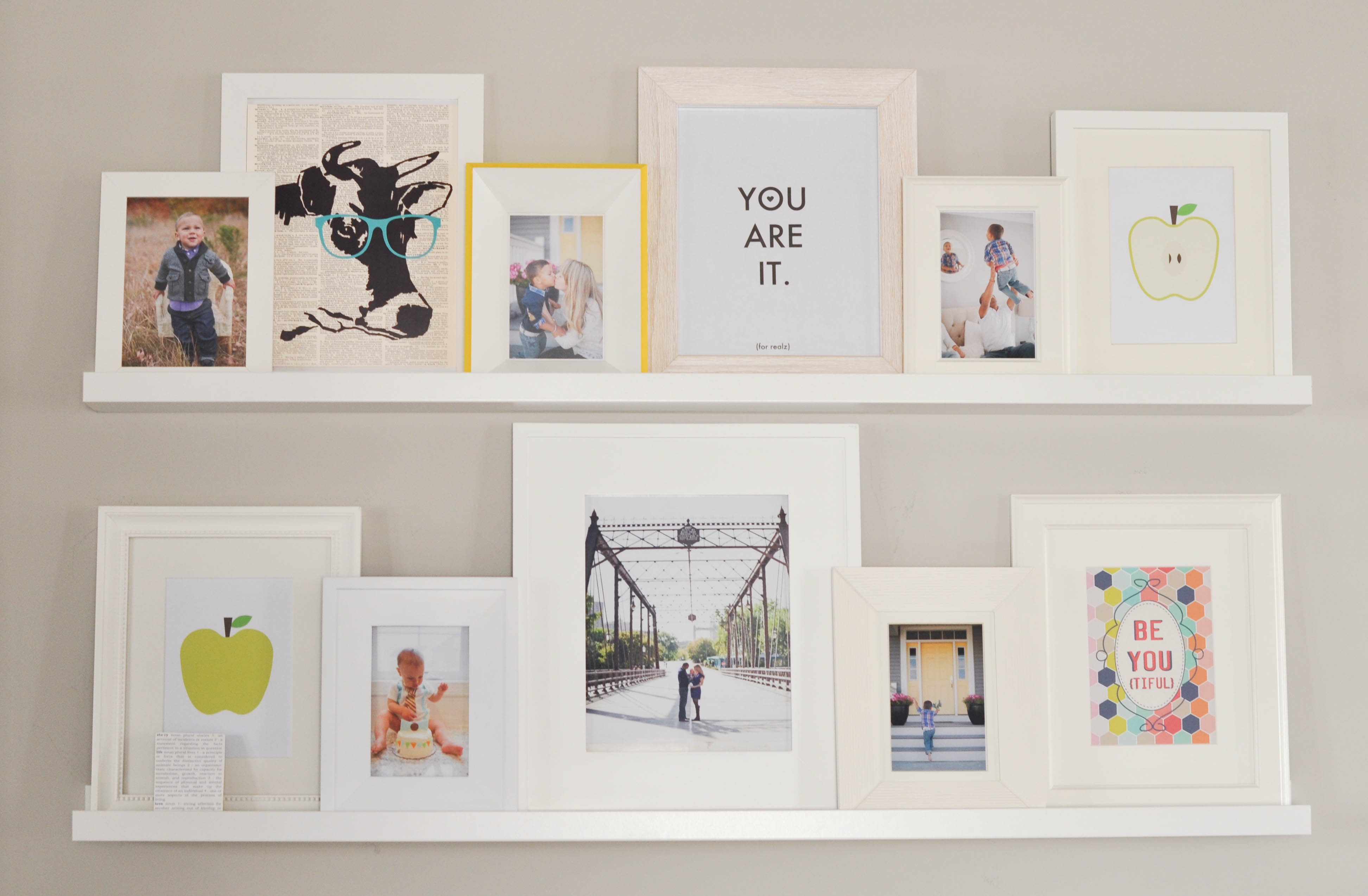 Our Cheerful Updated Foyer Gallery Wall On A Budget Using Free - Free Gallery Wall Printables