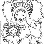 Our Lady Of The Rosary Coloring Page | Coloring Pages | Color   Free Catholic Coloring Pages Printables
