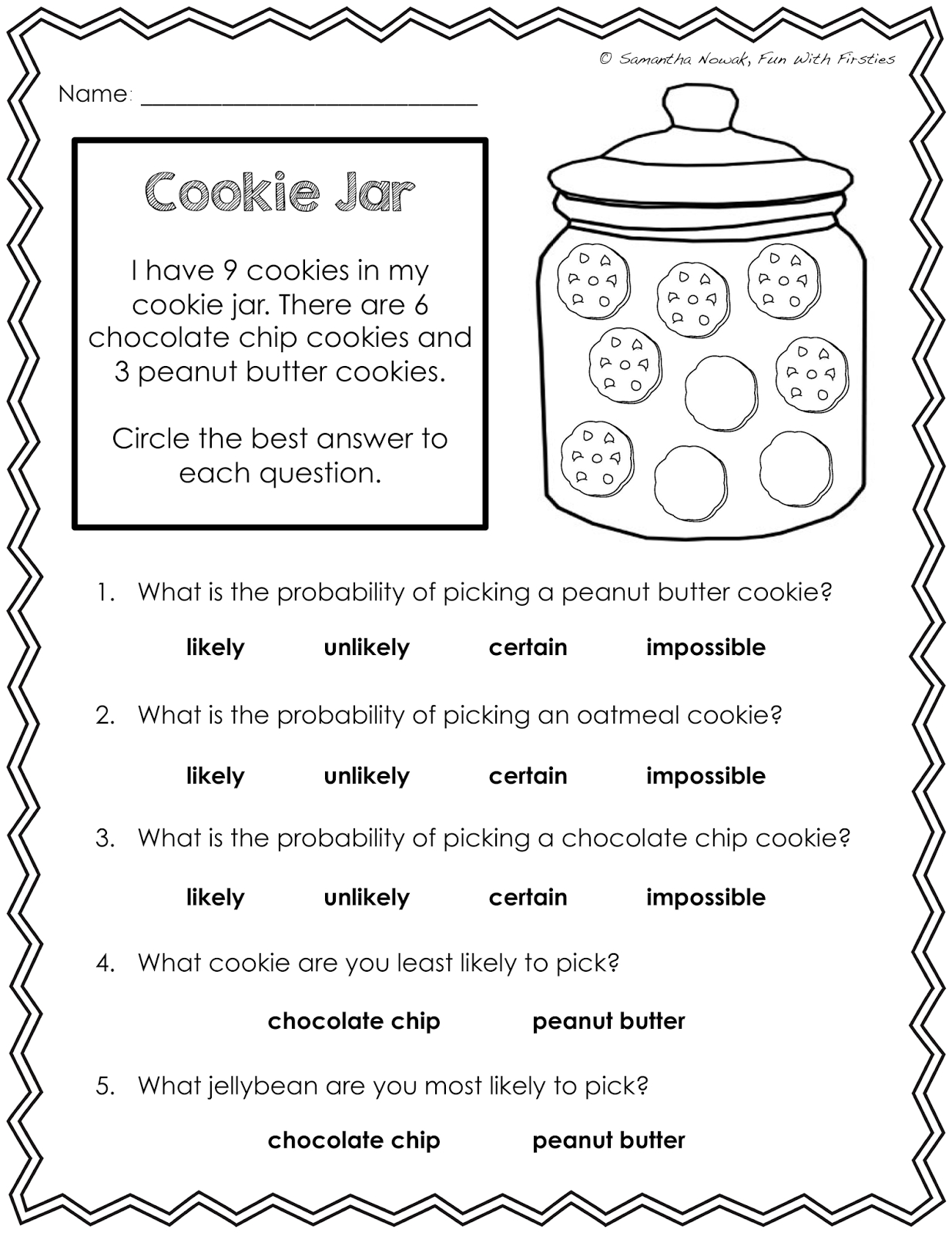 Our Probability Unit: Worksheets, Activities, Lessons, And - Free Printable Probability Worksheets 4Th Grade