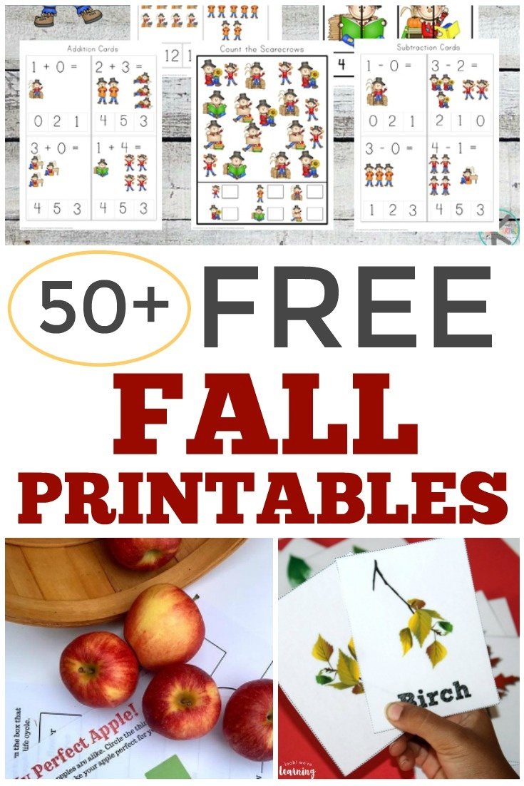 Over 50 Free Fall Printables For Kids - Look! We're Learning! - Free October Preschool Printables