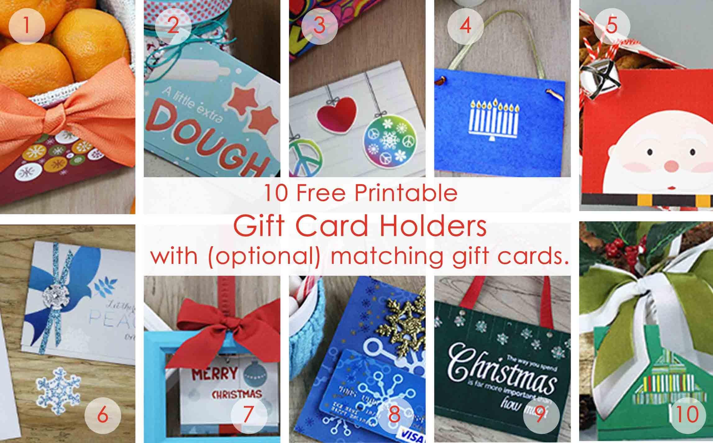 Over 50 Printable Gift Card Holders For The Holidays | Gcg - Free Printable Christmas Gift Cards