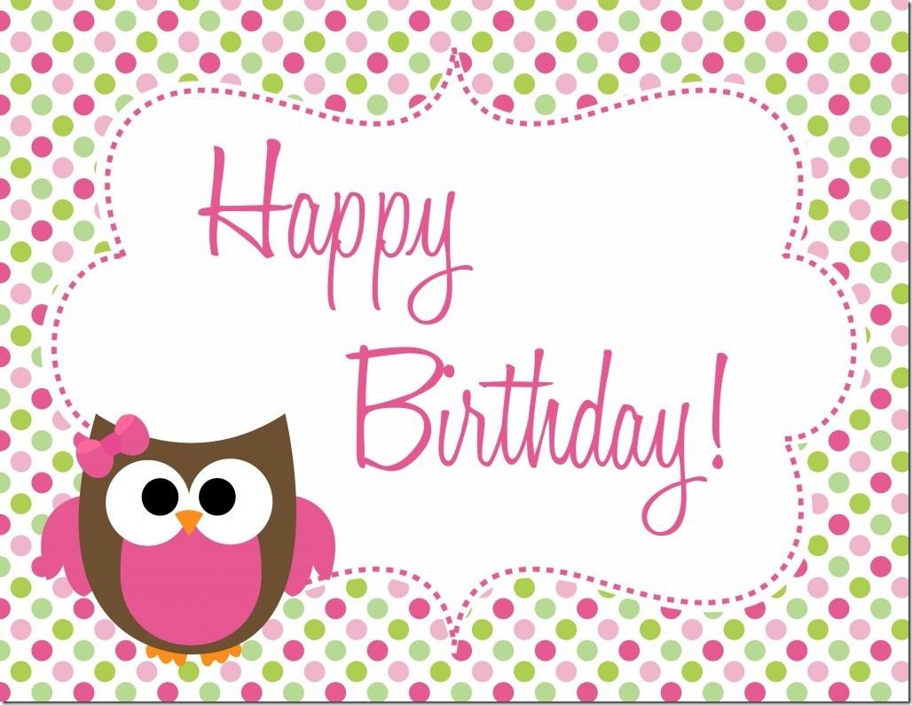 Owl Birthday Party - Free Printables - Free Owl Printables