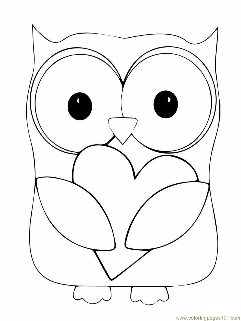 Owl Coloring Page | Coloring Pages Owl (Birds > Owl) - Free - Free Printable Owl Coloring Sheets