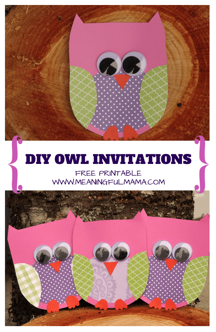 Owl Invitations Template For Free - Free Owl Printable Template