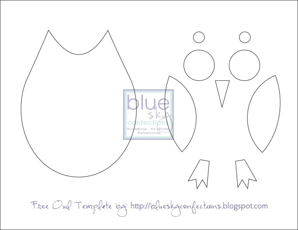 Owl Template Printable. Just Cut These Out For The Kids To Put - Free Owl Printable Template