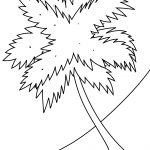 Palm Tree On A Beach Coloring Page | Free Printable Coloring Pages   Tree Coloring Pages Free Printable