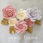 Paper Leaves   Ash And Crafts   Free Printable Templates For Large Paper Flowers