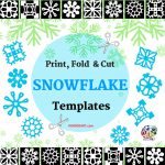 Paper Snowflakes   Christmas Holiday Arts And Crafts   December   Snowflake Template Free Printable
