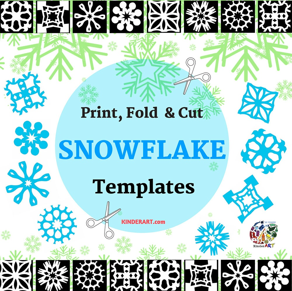 Paper Snowflakes - Christmas Holiday Arts And Crafts - December - Snowflake Template Free Printable