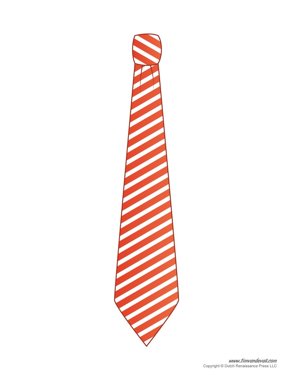 Paper Tie Templates For Kids - Free Printable Tie