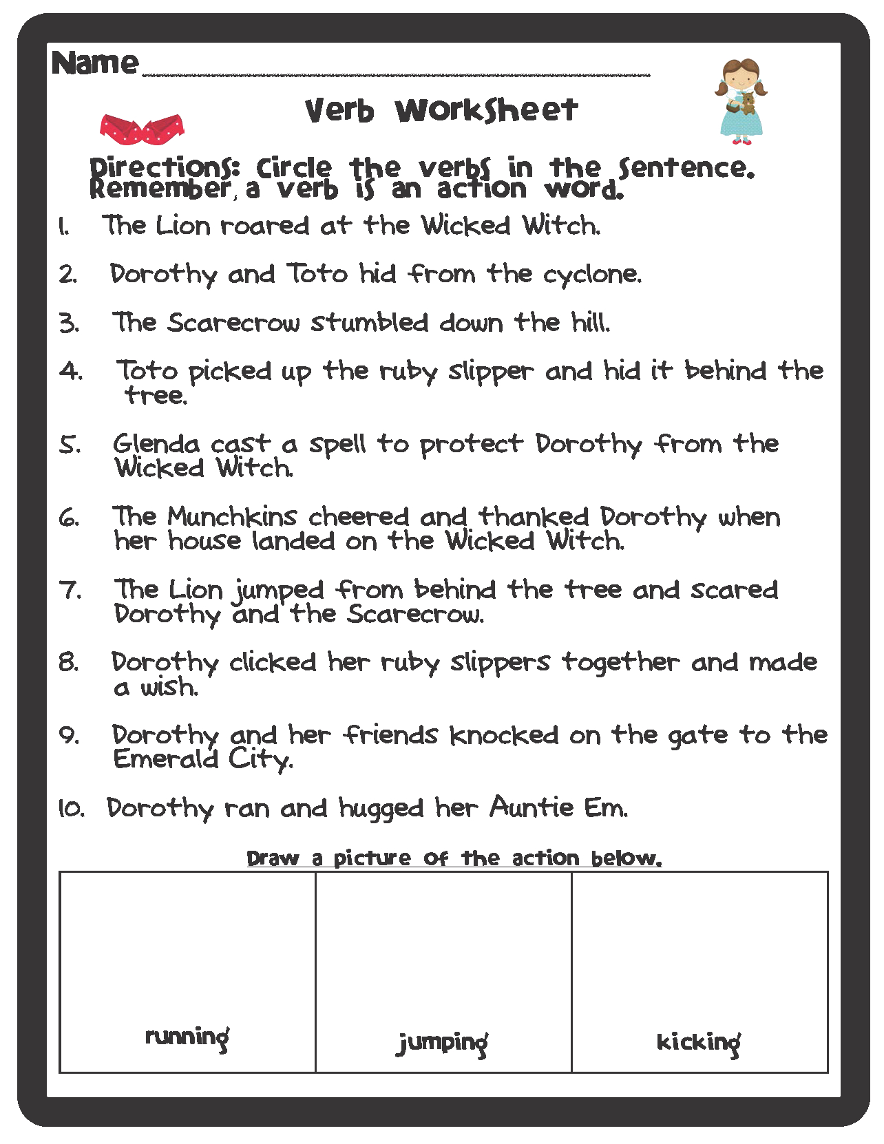 Parts Of Speech Wizard Of Oz Themed Worksheets {Freebie}   Grammar - Free Printable Parts Of Speech Worksheets