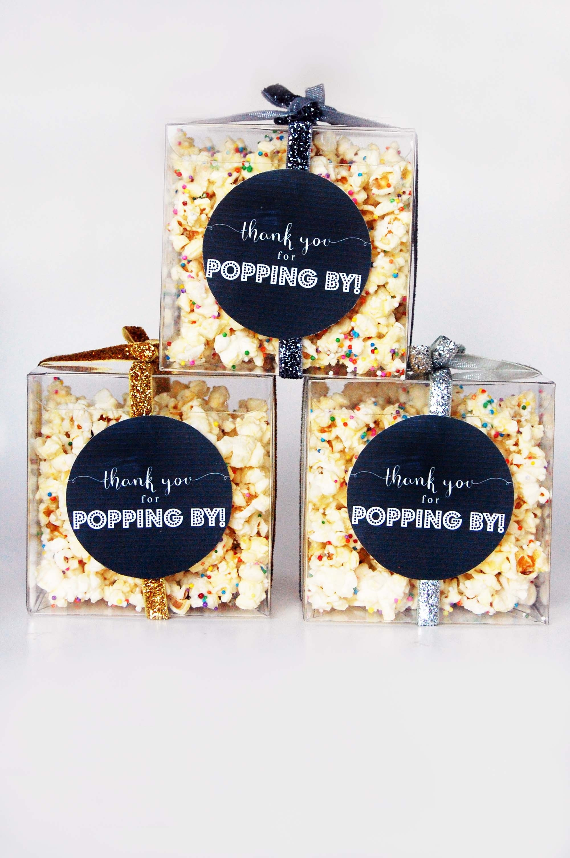 Party Popcorn Recipe + A Free Printable Favour Tag! - The Party Girl - Thanks For Popping By Free Printable