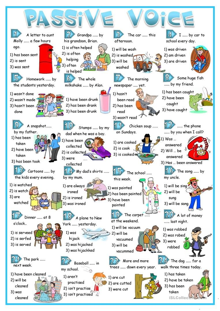 Passive Voice - Multiple Choice Worksheet - Free Esl Printable - Free Printable Multiple Choice Worksheets