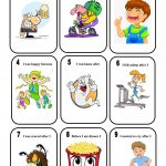 Past Perfect   Old Maid   A Game Worksheet   Free Esl Printable   Free Printable Old Maid Card Game