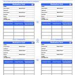 Patient Medication Card Template | Emergency Kits | Medication List   Free Printable Wallet Medication List Template