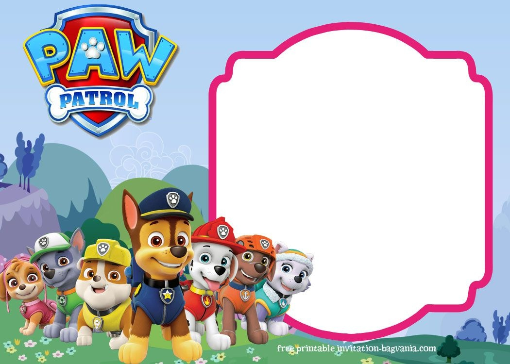 Paw Patrol Birthday Invitation Templates – Most Complete - Paw Patrol Free Printables Invitations