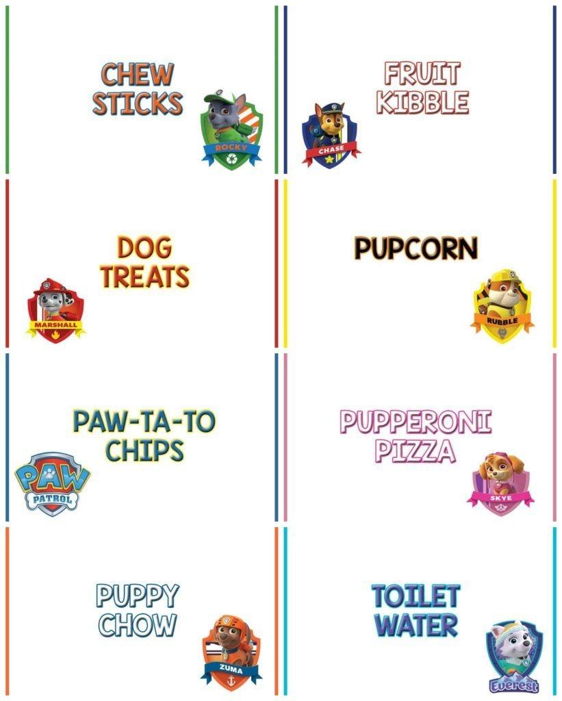 Paw Patrol Birthday Party | Paw Patrol | Paw Patrol Birthday, Paw - Free Printable Paw Patrol Food Labels