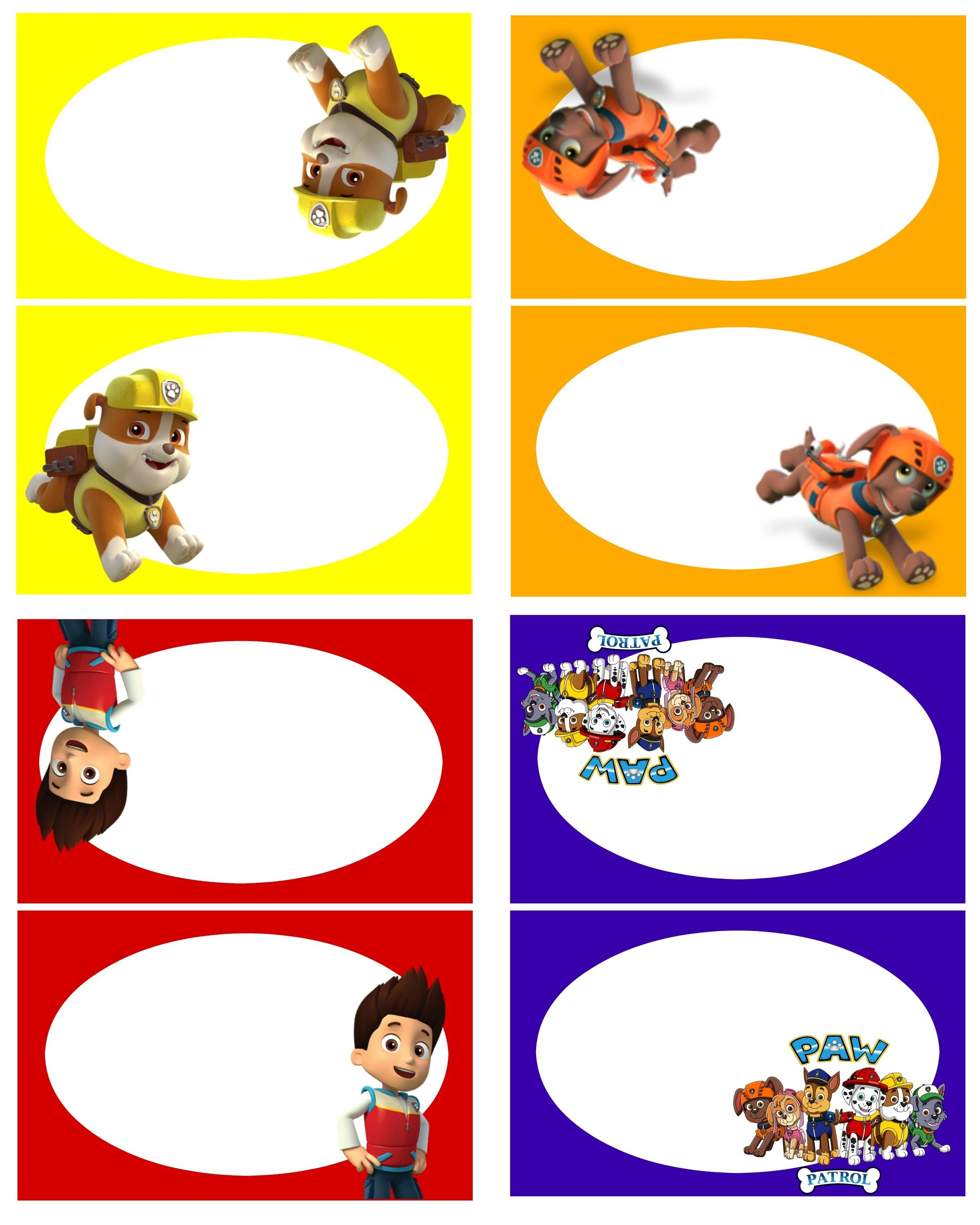 Paw Patrol Free Birthday Party Printables! - Delicate Construction - Free Printable Paw Patrol Food Labels