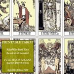 Pdf   Printable Tarot Cards   Rider Waite Major Arcana   Vintage   Printable Tarot Cards Pdf Free