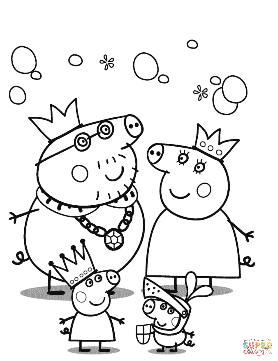 Peppa Pig Coloring Pages   Free Coloring Pages - Pig Coloring Sheets Free Printable