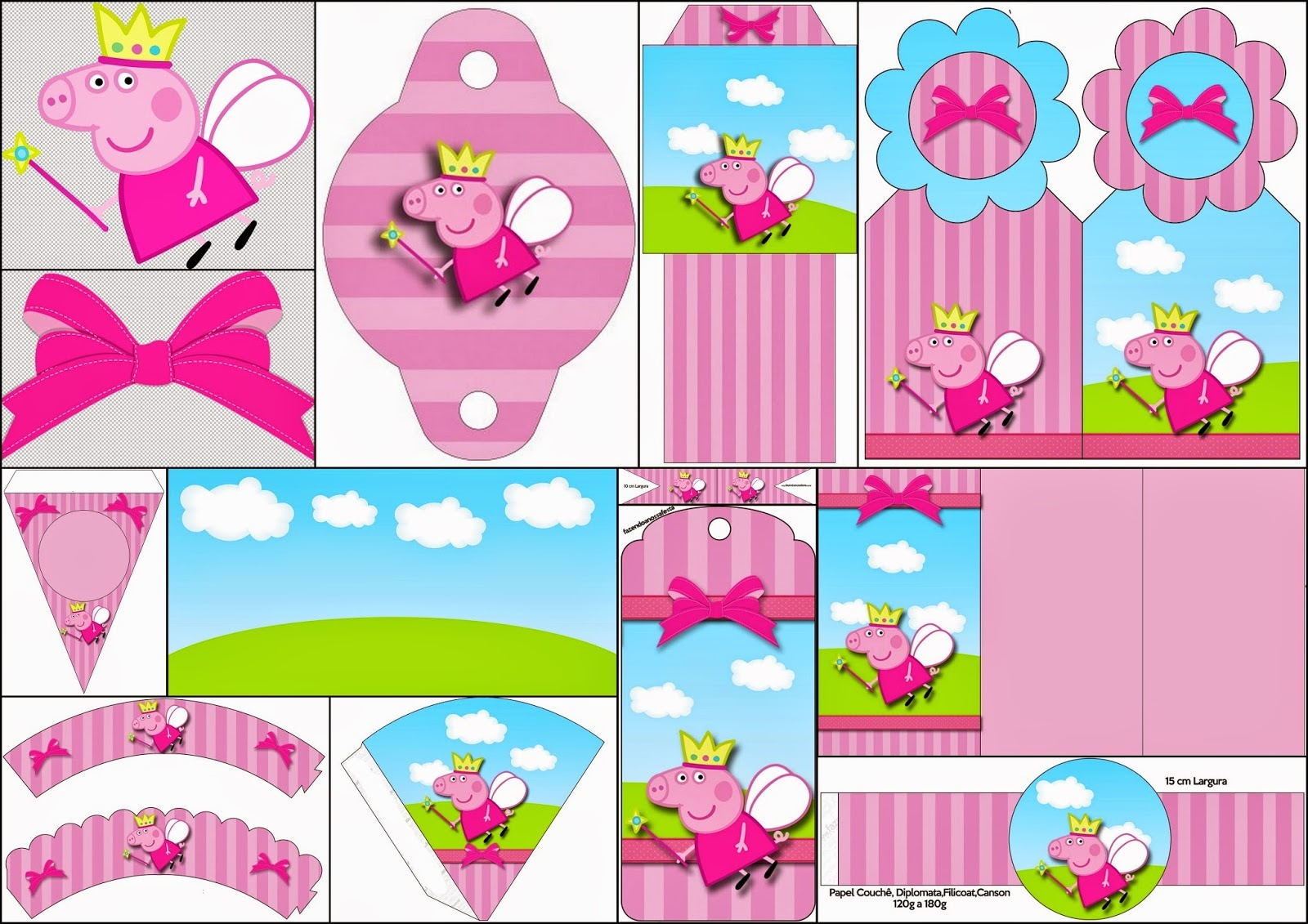 Peppa Pig Fairy: Free Party Printables, Images And Backgrounds. - Oh - Peppa Pig Free Printables
