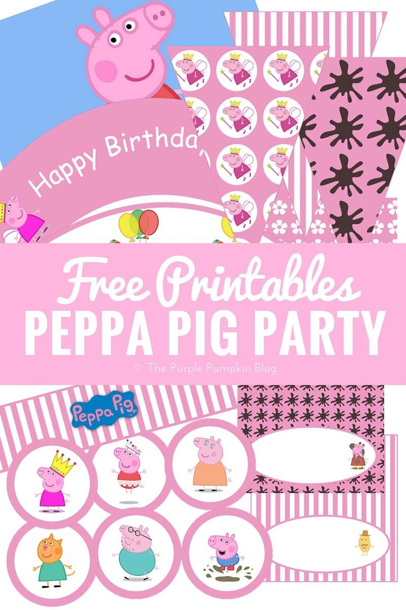 Peppa Pig Party Printables + Fun Party Ideas | Party Time | Pig - Peppa Pig Birthday Banner Printable Free