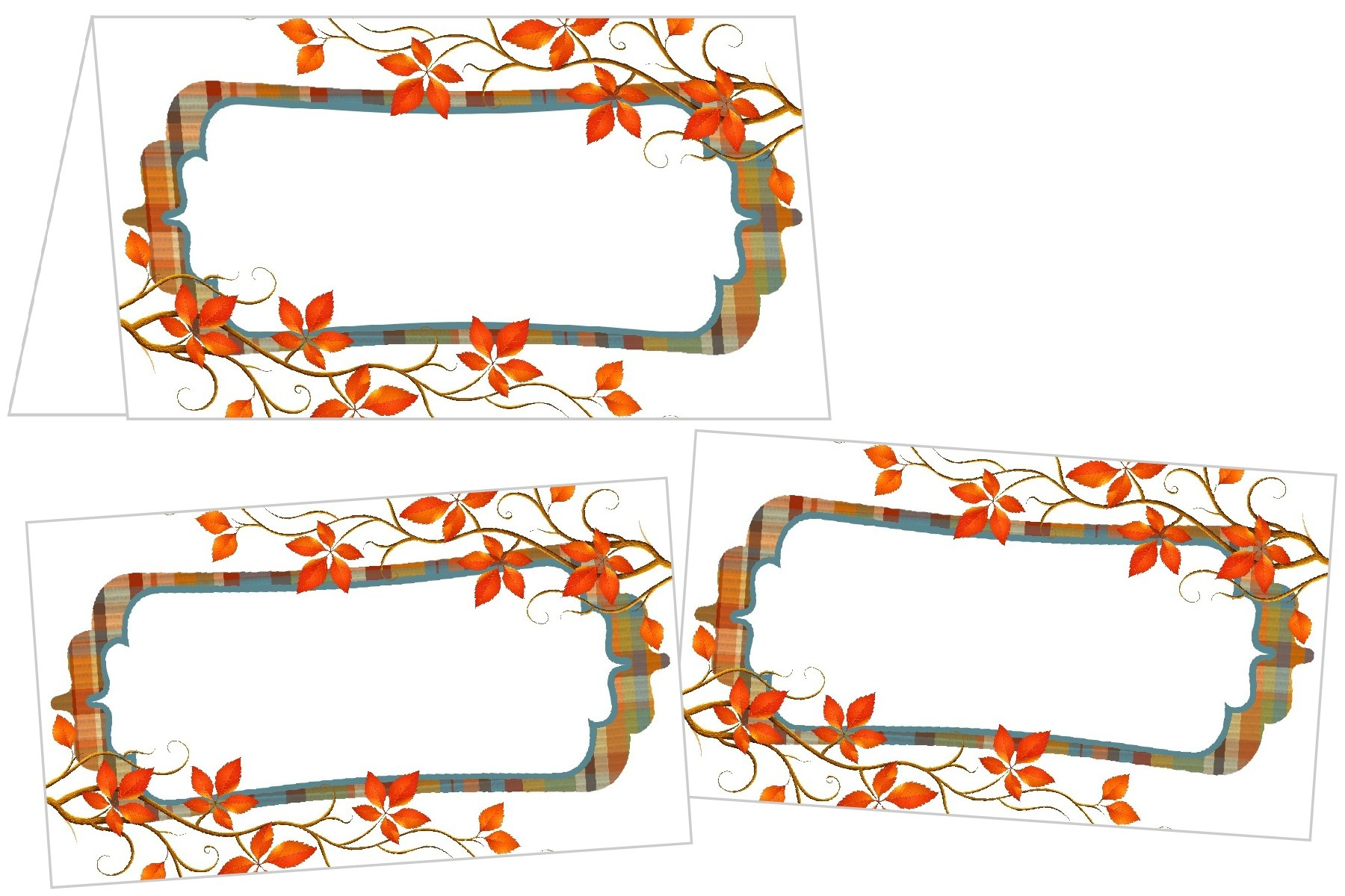 Perfectly Plaid Thanksgiving Place Cards - Free Printable Thanksgiving Place Cards To Color
