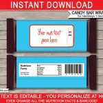 Personalized Candy Bar Wrappers Template   Tutlin.psstech.co   Free Printable Mini Candy Wrapper Template