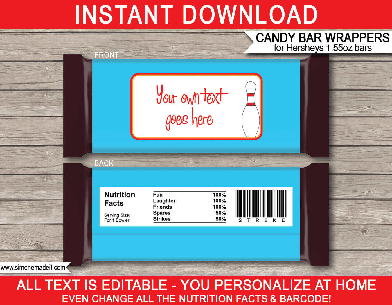 Personalized Candy Bar Wrappers Template - Tutlin.psstech.co - Free Printable Mini Candy Wrapper Template