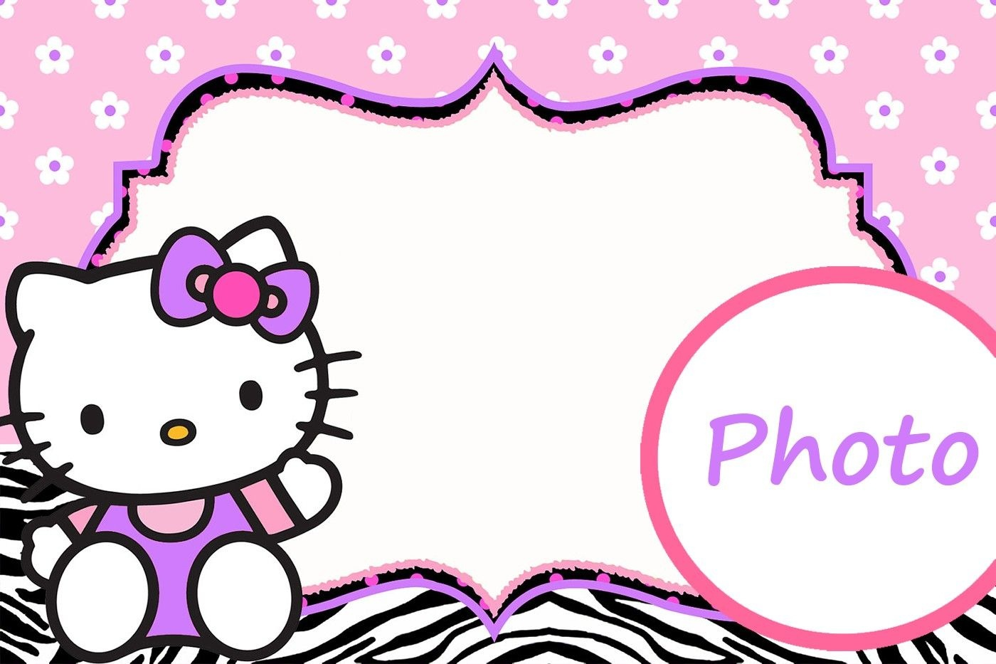 Personalized Hello Kitty Invitation Template   Hello Kitty   Hello - Free Printable Hello Kitty Pictures
