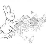 Peter Rabbit Easter Egg Hunt Coloring Page | Free Printable Coloring   Free Printable Peter Rabbit Coloring Pages
