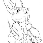 Peter Rabbit Eating Radishes Coloring Page From Peter Rabbit   Free Printable Peter Rabbit Coloring Pages