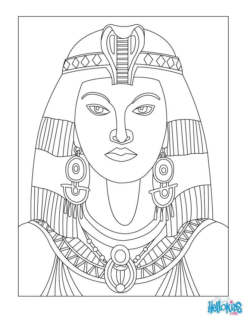 Pharaoh Coloring Pages - Coloring Pages - Printable Coloring Pages - Free Printable Egyptian Masks