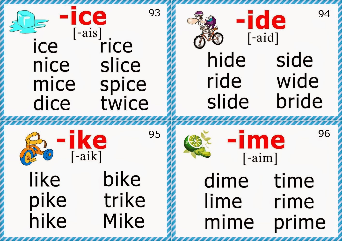 Phonics Flashcards (Long I Vowel) - Free Printable Phonics Flashcards With Pictures