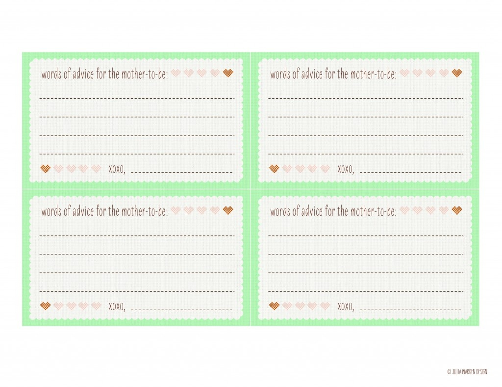 Photo : Baby Shower Advice Cards Printable Image - Free Printable Bridal Shower Advice Cards