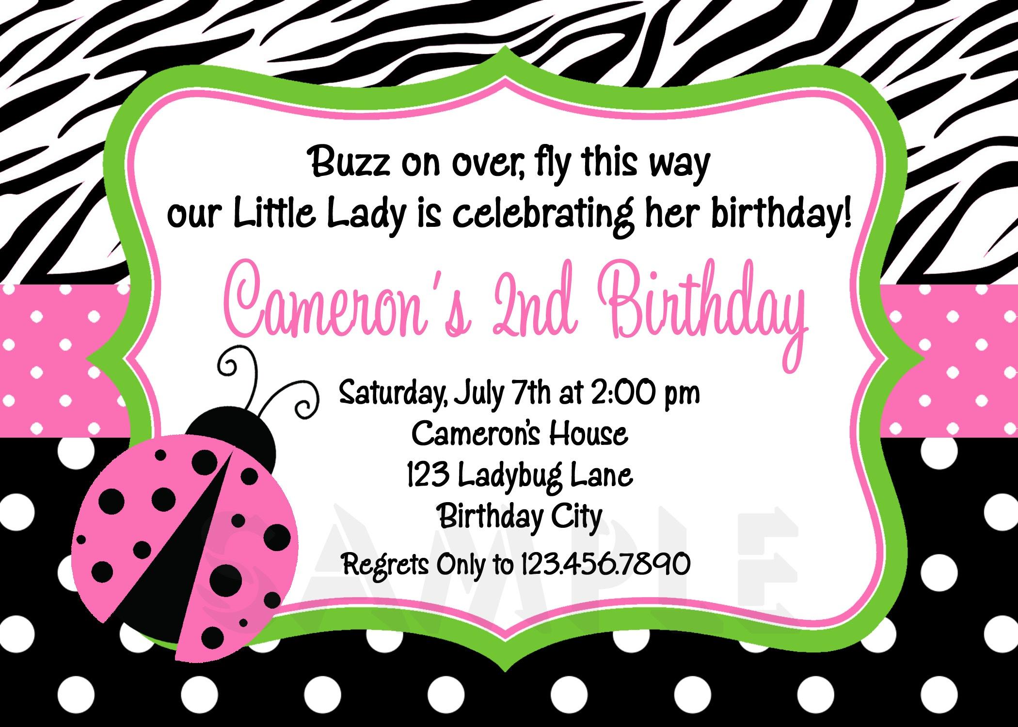 Photo : Free Ladybug Baby Shower Image - Free Printable Ladybug Baby Shower Invitations Templates
