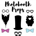 Photobooth Props // Free Download And Tutorial | Silhouette   Free Printable Photo Booth Props