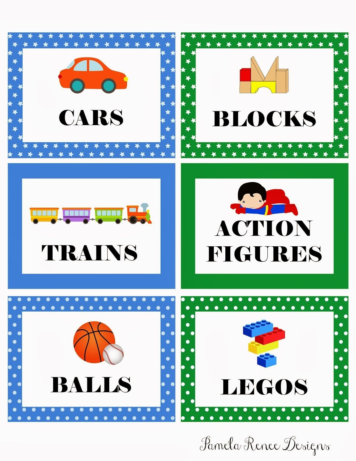 Picture Labels For Toys | Free Printable: Boy's Toy Bin Labels - Free Printable Classroom Labels With Pictures