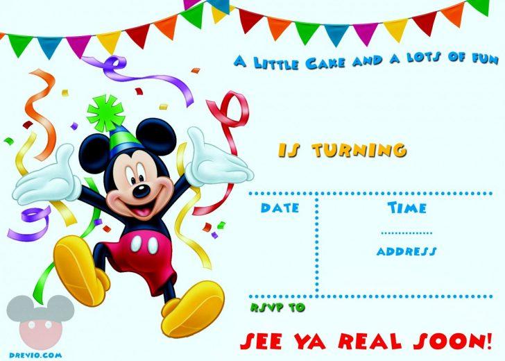 Free Printable Baby Mickey Mouse Birthday Invitations