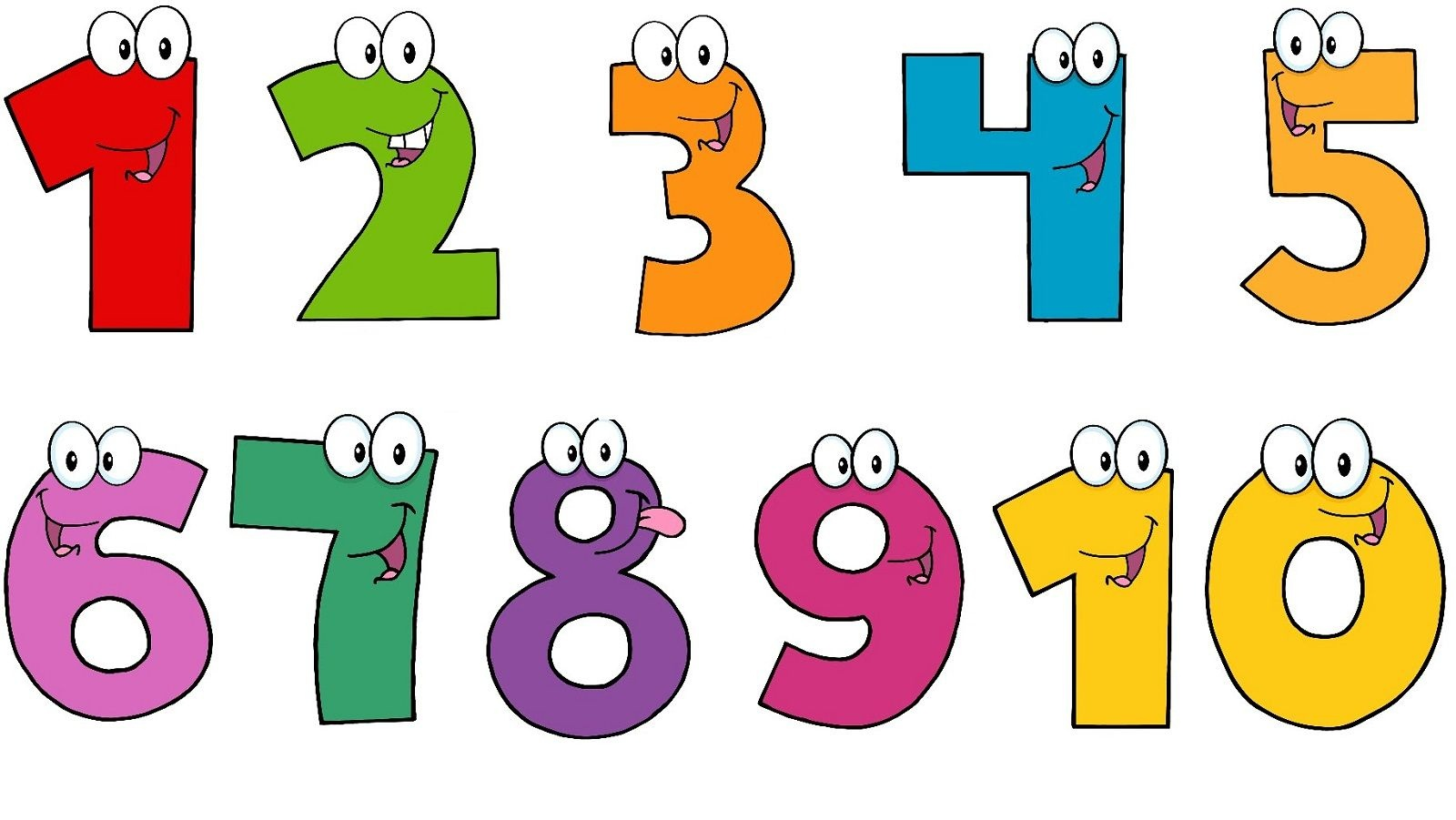 Pictures Of Number 1-10 | Printable Pictures | Printable Pictures - Free Printable Cake Walk Numbers