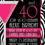 Pictures Of Stylish Women For 40Th Birthday Invitation | Free   Free Printable Surprise 40Th Birthday Party Invitations
