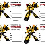 Pictures Transformers Birthday Party Invitations Invitation Template   Transformers Party Invitations Free Printable