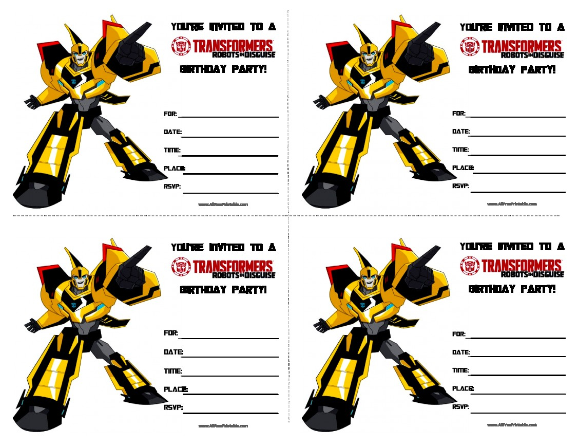 Pictures Transformers Birthday Party Invitations Invitation Template - Transformers Party Invitations Free Printable