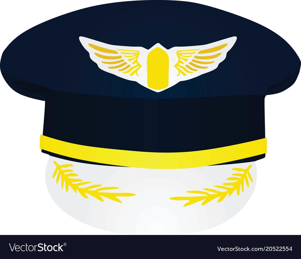 Pilot Hat Royalty Free Vector Image - Vectorstock - Free Printable Pilot Hat Template
