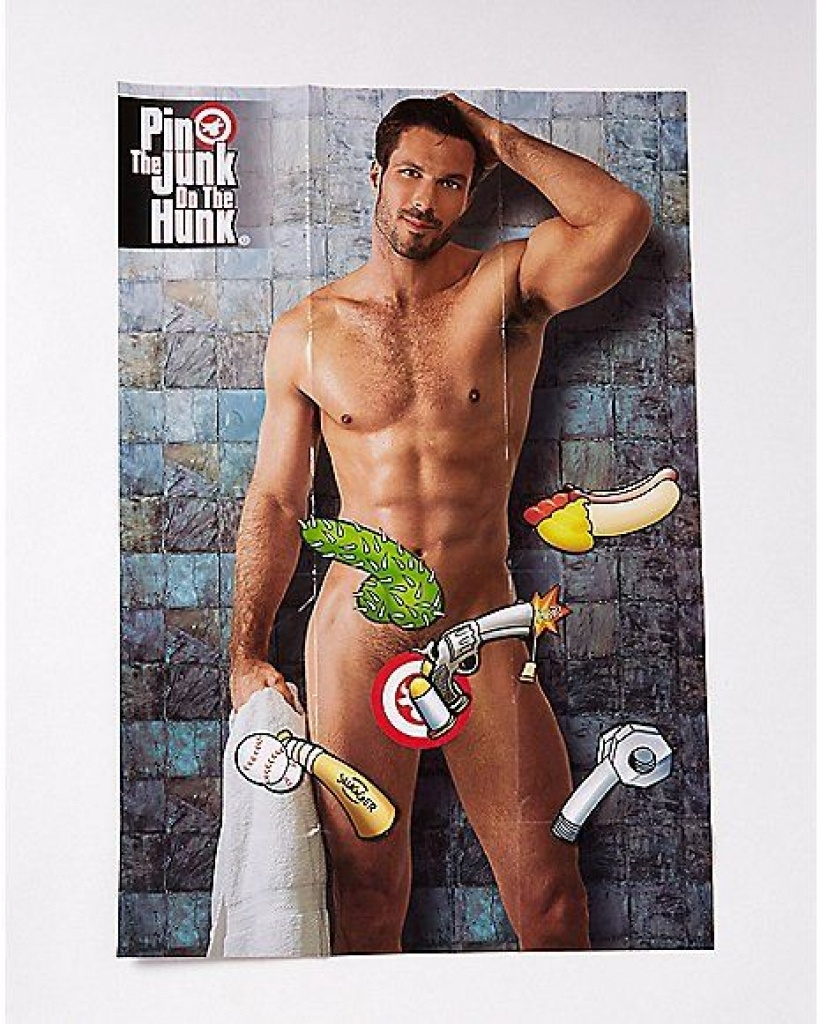 Pin The Junk On The Hunk Free Printable   Free Printable - Pin The - Pin The Junk On The Hunk Free Printable
