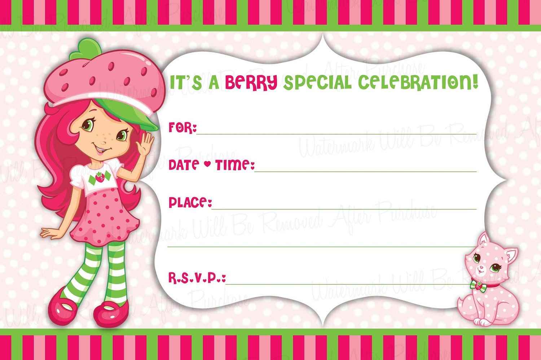 Pinalee Salazar On P- Strawberry Shortcake In 2019 | Strawberry - Strawberry Shortcake Birthday Cards Free Printable