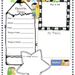 Pinangela Sanguino On Education | All About Me Worksheet, All   Free Printable All About Me Poster
