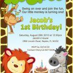 Pinbrendamae Estorba On Birthday Party Ideas | First Birthday   Jungle Theme Birthday Invitations Free Printable