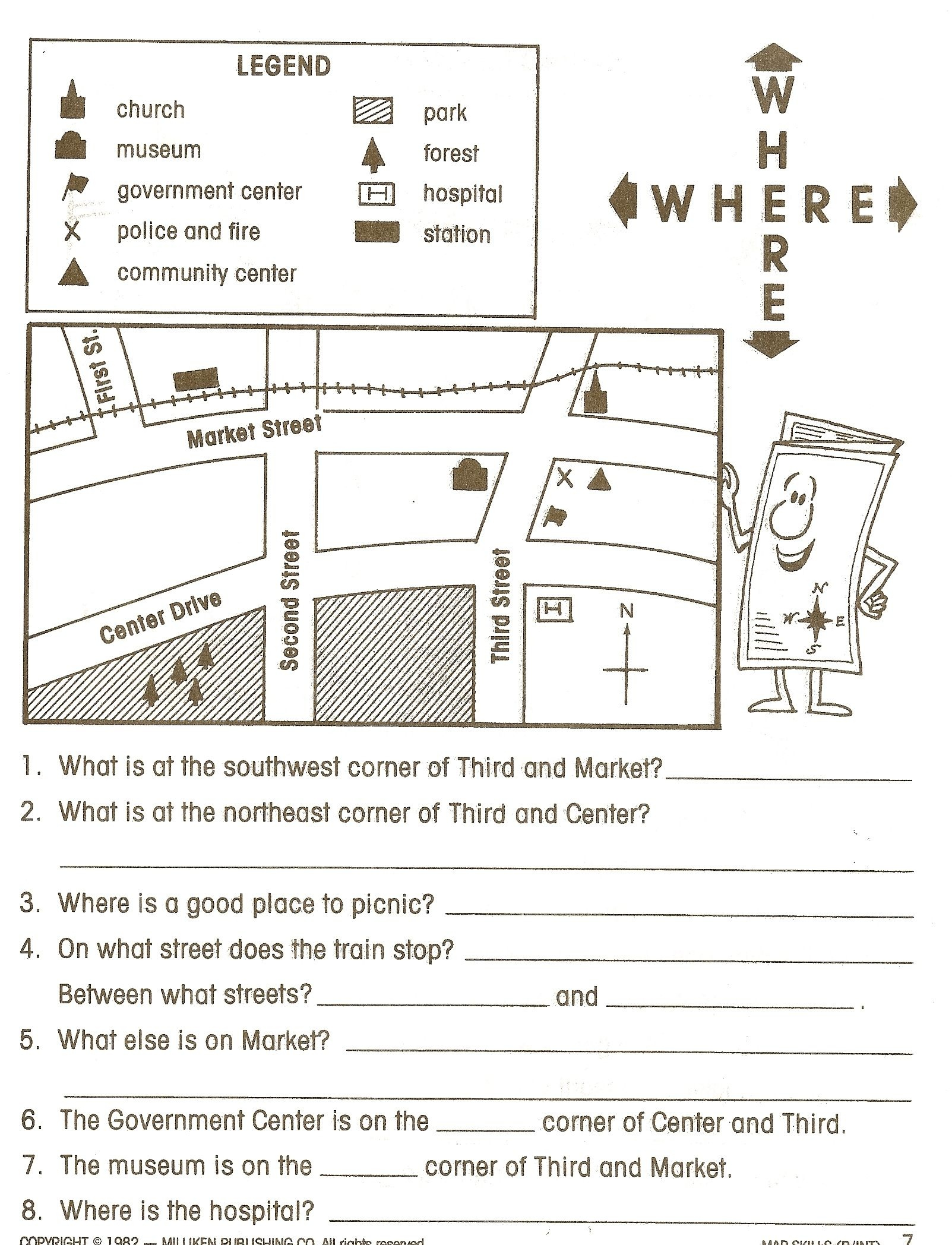 Pincaissey Adams On Directions | Map Worksheets, Social Studies - Social Studies Worksheets First Grade Free Printable