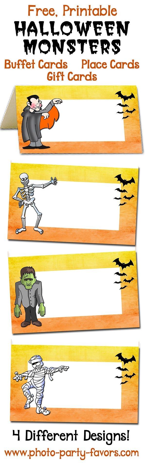 Pinchristi Pew On Hosa Blood Drive | Halloween Buffet, Halloween - Free Printable Halloween Place Cards